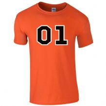 01 General Orange T-Shirt - Dukes Dodge Bo Fan Film Unisex Mens Gift Top